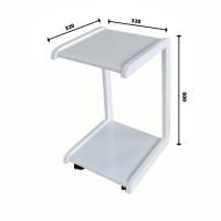 Журнальный мини-столик (квадрат). Цвет: белый (столешница, ножки)